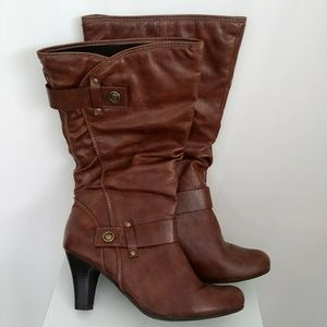 A.N.A. ANA NEW APPROACH FAUX LEATHER KNEE BOOTS